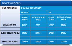 Hotel Coral Digha Room Tariff